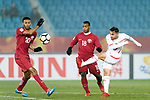 Action - 25. Qatar vs Palestine - Quarter Finals - AFC U23 Championship China 2018
