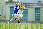 Stephen Power Lixnaw in action against Adrian ROyle Kilmoyley in the County Senior Hurling Final at Austin Stack Park Tralee on Sunday.