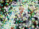 Brendan Rodgers during Celtic's victory celebrations