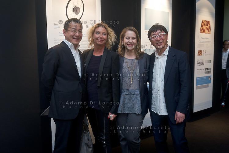 The jury Birgit Lohamann (Chief editor of designboom), Paola Antonelli (Curator of Mo.Ma NY) and Toyo Ito (Architect) during the Lexus Design Amazing 2014, on April 08, 2014. Photo: Adamo Di Loreto/BuenaVista*photo