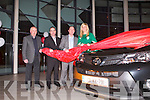 UNVEILING: Irish and Tralee rugby club star Siobhan Fleming unveiling the all new generation Toyota RAVA 4 at Kelliher garage, Tralee l-r: Jerry O'Sullivan (sales executive), Tom O'Connor (sales executive), Tim Kelliher (CEO Kelliher garage) and Siobhan Fleming.