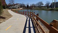 NWA Democrat-Gazette/FLIP PUTTHOFF <br /> A reroute of the Northwest Arkansas Razorback Greenway in Rogers, seen here on March 3 2017, makes for a pleasant bike ride, walk or run behind Village on the Creeks shopping center.