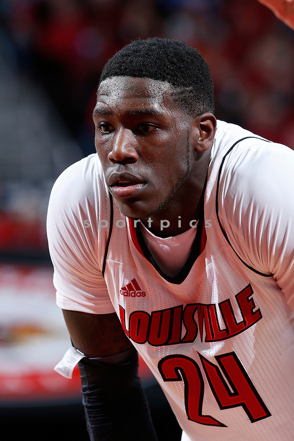 LOUISVILLE, KY - DECEMBER 29: Montrezl Harrell #24 of the Louisville Cardinals looks on against the Kentucky Wildcats during the game at KFC Yum! Center on December 29, 2012 in Louisville, Kentucky. Louisville won 80-77. Montrezl Harrell