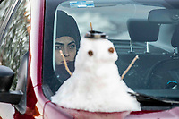 snow landscapes with clear sky. Winter in Cananea, Sonora, Mexico. Snow on the La Mariquita and Sierra Elenita mountains. 2020. (Photo by: GerardoLopez / NortePhoto.com).....<br /> <br /> paisajes de la nieve con cielo despejado. Invierno en Cananea, Sonora, Mexico.  Nieve en la siera la Mariquita y sierra Elenita . 2020. (Photo by: GerardoLopez/NortePhoto.com )