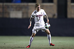 DURHAM, NC - NOVEMBER 25: Fordham's Jannik Loebe (GER). The Duke University Blue Devils hosted the Fordham University Rams on November 25, 2017 at Koskinen Stadium in Durham, NC in an NCAA Division I Men's Soccer Tournament Third Round game. Fordham advanced 8-7 on penalty kicks after the game ended in a 2-2 tie after overtime.