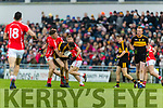 Brian Looney, Dr Crokes in action against Shane Cronin, East Kerry  during the Kerry County Senior Club Football Championship Final match between East Kerry and Dr. Crokes at Austin Stack Park in Tralee, Kerry.