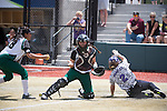 21 MAY 2016:  Humboldt State University takes on the University of North Alabama during the Division II Women's Softball Championship held at the Regency Athletic Complex on the Metro State University campus in Denver, CO.  North Alabama defeated Humboldt State 10-1 to force a game three.  Jamie Schwaberow/NCAA Photos