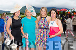 l-r Eileen Murphy,Castlemaine,Carla O'Doherty, Killarney, Katie O'Dea, Knocknagree and Laura O'Dea, Knocknagree looking glamorous for Ladies Day at the Killarney Races  on Thursday