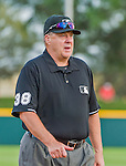 5 March 2015: MLB Umpire Gary Cederstrom walks to his position at first during a Spring Training game between the Washington Nationals and the New York Mets at Space Coast Stadium in Viera, Florida. The Nationals rallied to defeat the Mets 5-4 in their Grapefruit League home opening game. Mandatory Credit: Ed Wolfstein Photo *** RAW (NEF) Image File Available ***