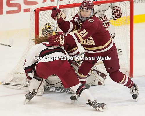 Lexi Bender (BC - 21) - The visiting Boston College Eagles defeated the Harvard University Crimson 2-0 on Tuesday, January 19, 2016, at Bright-Landry Hockey Center in Boston, Massachusetts.