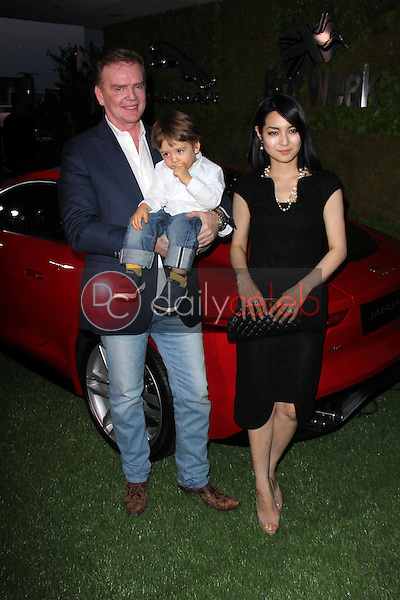 """Christopher Guy, Iconic Furniture Designer, with Sakiko Yomada and Georgie Harrison<br /> at Jaguar North America and Britweek Present """"A Villainous Affair,"""" The London West Hollywood, West Hollywood, CA 05-02-14<br /> David Edwards/DailyCeleb.Com 818-249-4998"""