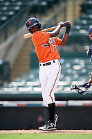 Baltimore Orioles Carlos Baez (73) during an Instructional League game against the Tampa Bay Rays on September 19, 2016 at Ed Smith Stadium in Sarasota, Florida.  (Mike Janes/Four Seam Images)