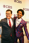 Stephen Colbert & Jon Batiste- The Late Show with Stephen Colbert at CBS Upfront 2018 on May 17, 2018 at the Plaza Hotel, New York City, New York with new Prime Time 2018-19 shows (Photo by Sue Coflin/Max Photo)