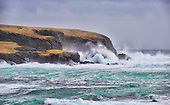 Shetland - Atlantic waves crash on to Burrier Head and the Ness of Bakka on Shetland's west side - picture by Donald MacLeod - 09.03.14 – 07702 319 738 – clanmacleod@btinternet.com – www.donald-macleod.com