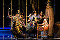 London, UK. 07.12.2012. MATTHEW BOURNE'S SLEEPING BEAUTY: A GOTHIC FAIRYTALE premieres at Sadler's Wells. Joe Walkling, Sophia Hurdley, Mari Kamata, Kate Lyons, Christopher Marney, Liam Mower, in Act I: The Fairies Visit Baby Aurora. Photo credit: Jane Hobson.