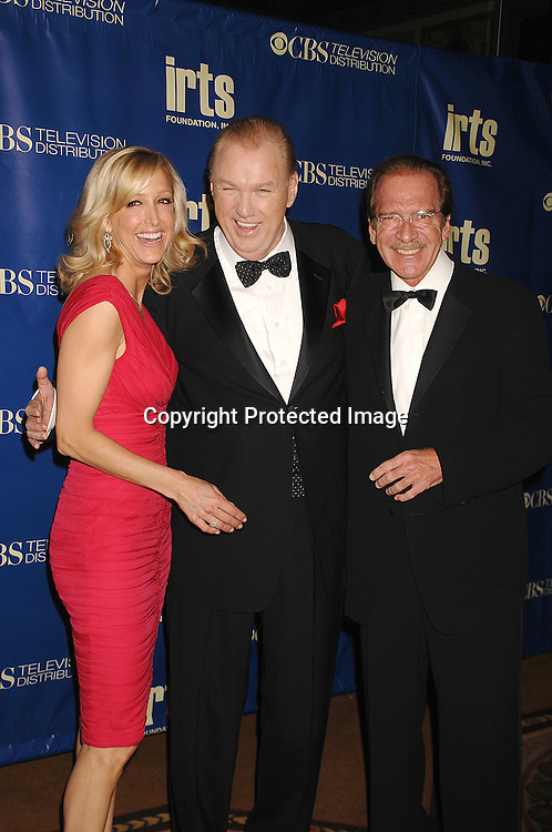 Lara Spencer, Roger King and Pat O'Brien ..posing at The IRTS Gold Medal Award Gala honoring recipient and syndication legend Roger King on May 10, 2007 at The Waldorf Astoria Hotel in New York City...Robin Platzer, Twin Images......212-935-0770