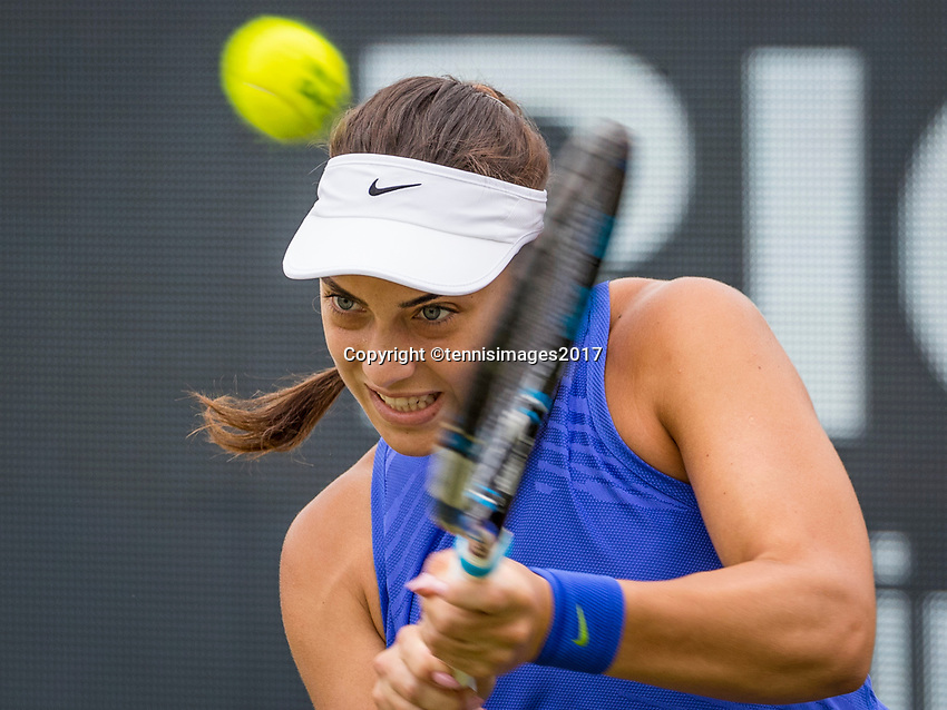 Den Bosch, Netherlands, 17 June, 2017, Tennis, Ricoh Open,  Ana Konjuh (CRO) <br /> Photo: Henk Koster/tennisimages.com