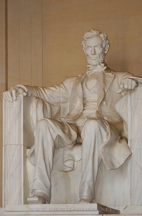 Abraham Lincoln, Daniel Chester French 1922, Lincoln Memorial, National Mall, Washington DC