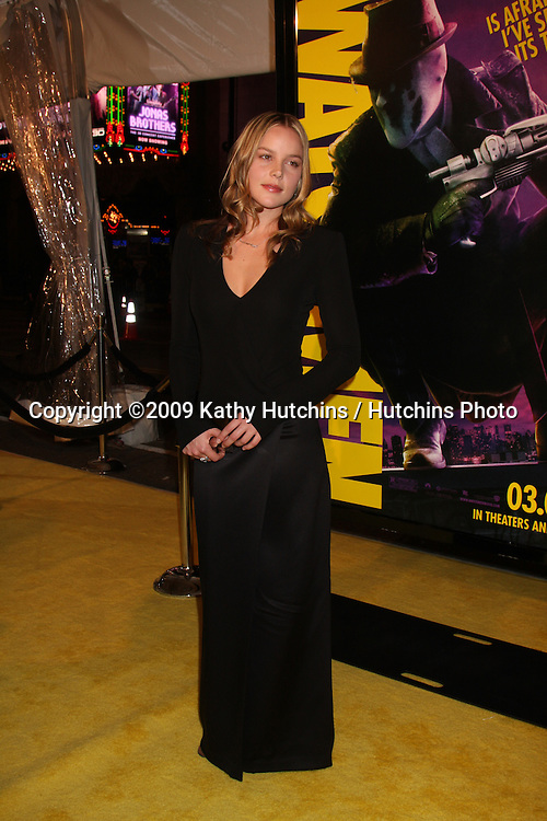 """Abbie Cornish arriving at the """"Watchman"""" Premiere at Mann's Grauman's Theater in Los Angeles, CA  on.March 2, 2009.©2009 Kathy Hutchins / Hutchins Photo...                ."""