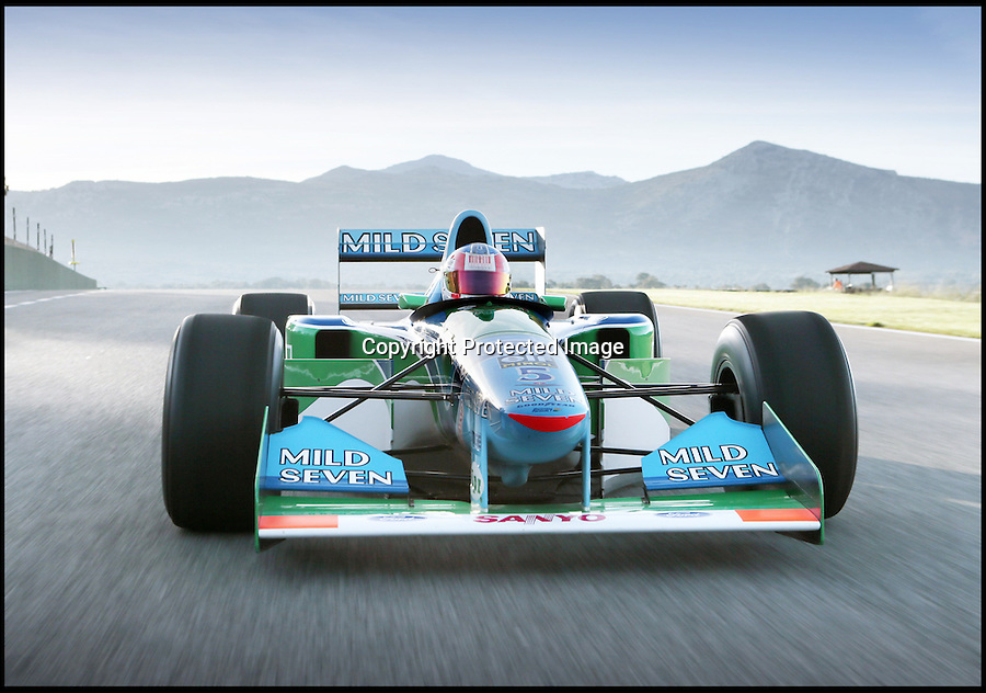 BNPS.co.uk (01202 558833)<br /> Pic: Bonhams/BNPS<br /> <br /> ***Please use full byline***<br /> <br /> One of the most historic F1 cars of all time is coming up for auction - with a glorious but poignant heritage.<br /> <br /> Its the Benetton F1 car which helped rising star Michael Schumacher win his first world championship in 1994.<br /> <br /> The German driver won four Grand Prix in this 1994 Benetton Cosworth Ford B194, including the famous Monaco race.<br /> <br /> But despite the historic car's successful history, it is linked to one of the darkest moments in motor racing history.<br /> <br /> Schumacher was driving this car immediately behind rival Ayrton Senna when the Brazilian driver was killed in a horrific 190mph crash at the Imola circuit in the 1994 San Marina GP.<br /> <br /> Schumacher climbed out of the vehicle moments after the accident and went on to win the race when it controversially restarted.<br /> <br /> The 200mph car is in perfect working order although you will need a F1 circuit to run the 3.5 litre 740bhp monster.<br /> <br /> Bonhams are selling the historic motor with a pre-sale estimate of £600,000.