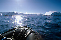 Antarctic Peninsula as seen from Inflatable Zodiac craft, Antarctica