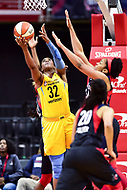 Washington, DC - June 15, 2018: Chicago Sky forward Cheyenne Parker (32) makes a strong move to the basket during game between the Washington Mystics and Chicago Sky at the Capital One Arena in Washington, DC. (Photo by Phil Peters/Media Images International)