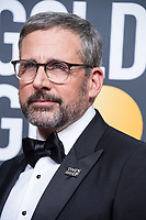 Nominated for BEST PERFORMANCE BY AN ACTOR IN A MOTION PICTURE &ndash; COMEDY OR MUSICAL for his role in &quot;Battle of the Sexes,&quot; actor Steve Carell  attends the 75th Annual Golden Globes Awards at the Beverly Hilton in Beverly Hills, CA on Sunday, January 7, 2018.<br /> *Editorial Use Only*<br /> CAP/PLF/HFPA<br /> &copy;HFPA/PLF/Capital Pictures
