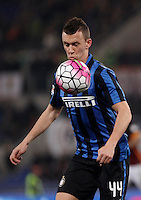 Calcio, Serie A: Roma vs Inter. Roma, stadio Olimpico, 19 marzo 2016.<br /> FC Inter&rsquo;s Ivan Perisic in action during the Italian Serie A football match between Roma and FC Inter at Rome's Olympic stadium, 19 March 2016. The game ended 1-1.<br /> UPDATE IMAGES PRESS/Isabella Bonotto