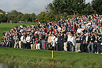 Straffin Co Kildare Ireland. K Club Ruder Cup...Thousands watch the European Ryder Cup team members Paul casey chiping onto the 6th green during the opening fourball session of the first day of the 2006 Ryder Cup, at the K Club in Straffan, Co Kildare, in the Republic of Ireland, 22 September 2006..Photo: Fran Caffrey/ Newsfile.