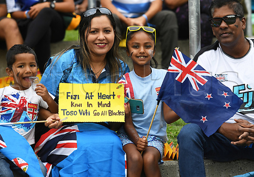 3rd February 2018, FMG Stadium, Waikato, Hamilton, New Zealand; HSBC World Rugby Sevens Series;  Fans and supporters