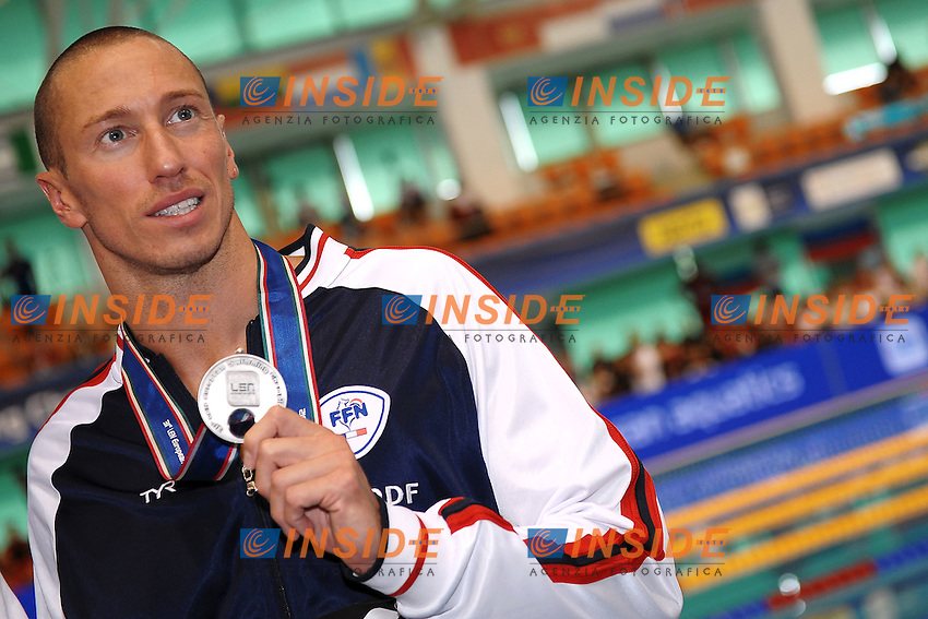 Frederick Bousquet France men's 50m butterfly silver medal.Debrecen 22/5/2012 .31st European Swimming Championships - Nuoto.Foto Insidefoto / Andrea Staccioli