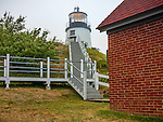 Knox County, Maine: Owls Head Light in fog