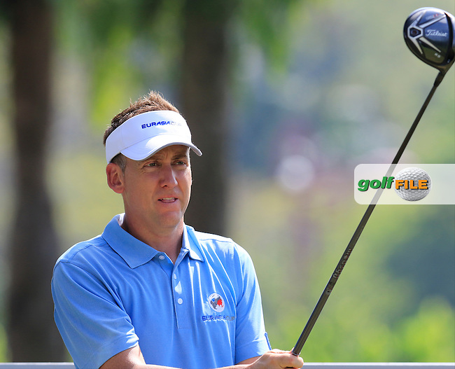 Ian Poulter (ENG) European Team during Pro-Am Day of the 2016 Eurasia Cup held at the Glenmarie Golf &amp; Country Club, Kuala Lumpur, Malaysia. 14th January 2016.<br /> Picture: Eoin Clarke | Golffile<br /> <br /> <br /> <br /> All photos usage must carry mandatory copyright credit (&copy; Golffile | Eoin Clarke)