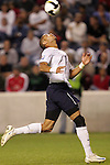 10 September 2008: Oguchi Onyewu (USA). The United States Men's National Team defeated the Trinidad and Tobago Men's National Team 3-0 at Toyota Park in Bridgeview, Illinois in a CONCACAF semifinal round FIFA 2010 South Africa World Cup Qualifier.