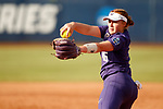 OKLAHOMA CITY, OK - JUNE 04: Gabbie Plain #16 of the Washington Huskies pitches against the Florida State Seminoles during the Division I Women's Softball Championship held at USA Softball Hall of Fame Stadium - OGE Energy Field on June 4, 2018 in Oklahoma City, Oklahoma. (Photo by Shane Bevel/NCAA Photos via Getty Images)
