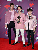 LOS ANGELES, CA. March 14, 2019: Lovelytheband, Jordan Greenwald, Mitchy Collins &amp; Sam Price at the 2019 iHeartRadio Music Awards at the Microsoft Theatre.<br /> Picture: Paul Smith/Featureflash