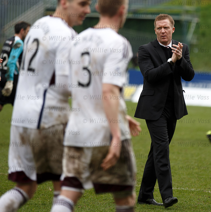 Dejection as Hearts are relegated - Gary Locke