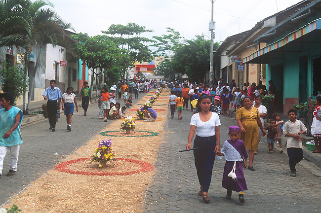 Flower-covered Float, Holy Week Procession, Nahuizalco, El Salvador