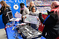 Harrison, NJ - Sunday March 04, 2018: Female Live Hosts, Fans, DJ Amy Robbins during a 2018 SheBelieves Cup match match between the women's national teams of the United States (USA) and France (FRA) at Red Bull Arena.