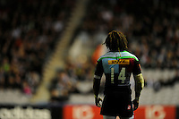 Marland Yarde of Harlequins during the European Rugby Champions Cup  Round 1 match between Harlequins and Castres Olympique at the Twickenham Stoop on Friday 17th October 2014 (Photo by Rob Munro)