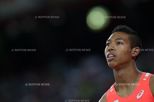 Abdul Hakim Sani Brown (JPN), AUGUST 25, 2015 - Athletics : 15th IAAF World Championships in Athletics Beijing 2015 Men's 200m heats at Beijing National Stadium in Beijing, China. (Photo by Takashi Okui/AFLO)