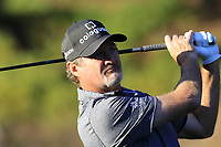Jerry Kelly (USA) tees off the 1st tee at Spyglass Hill during Thursday's Round 1 of the 2018 AT&amp;T Pebble Beach Pro-Am, held over 3 courses Pebble Beach, Spyglass Hill and Monterey, California, USA. 8th February 2018.<br /> Picture: Eoin Clarke | Golffile<br /> <br /> <br /> All photos usage must carry mandatory copyright credit (&copy; Golffile | Eoin Clarke)