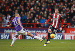 Richard Stearman of Sheffield Utd and Darren Pratley of Bolton Wanderers during the Championship match at Bramall Lane Stadium, Sheffield. Picture date 30th December 2017. Picture credit should read: Simon Bellis/Sportimage