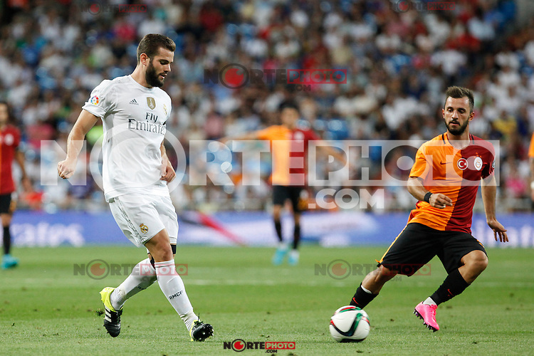 Real Madrid´s Nacho (L) during Santiago Bernabeu Trophy match at Santiago Bernabeu stadium in Madrid, Spain. August 18, 2015. (ALTERPHOTOS/Victor Blanco)