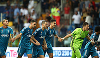 Calcio, Serie A: Parma - Juventus, Parma stadio Ennio Tardini, 24 agosto 2019. <br /> Juventus' players celebrate after winning 1-0  the Italian Serie A football match between Parma and Juventus at Parma's Ennio Tardini stadium, August 24, 2019. <br /> UPDATE IMAGES PRESS/Isabella Bonotto