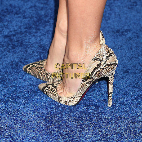 "CHRISTINE TAYLOR.Attending ""Blades of Glory"" Los Angeles Premiere at Grauman's Chinese Theatre, Hollywood, California.28 March 2007..detail snakeskin shoes feet heels.CAP/ADM/BP.©Byron Purvis/AdMedia/Capital Pictures."