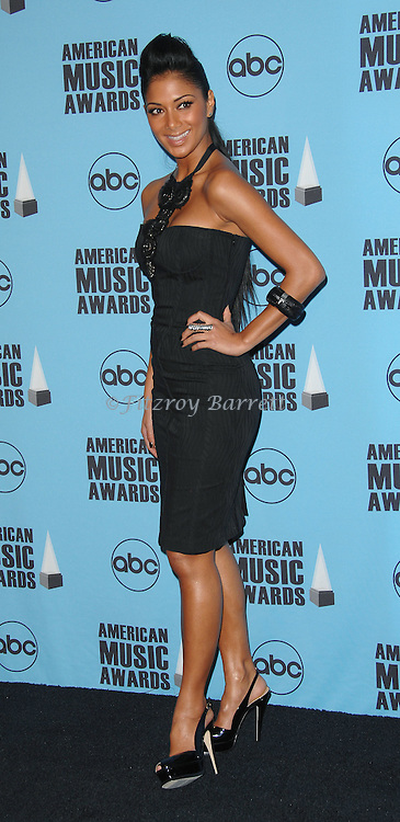 Nicole Scherzinger at the 2007 American Music Awards press room held at the Nokia Theatre Los  Angeles, Ca. November 18, 2007.  Fitzroy Barrett