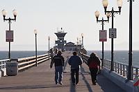 Walking On The Seal Beach Pier