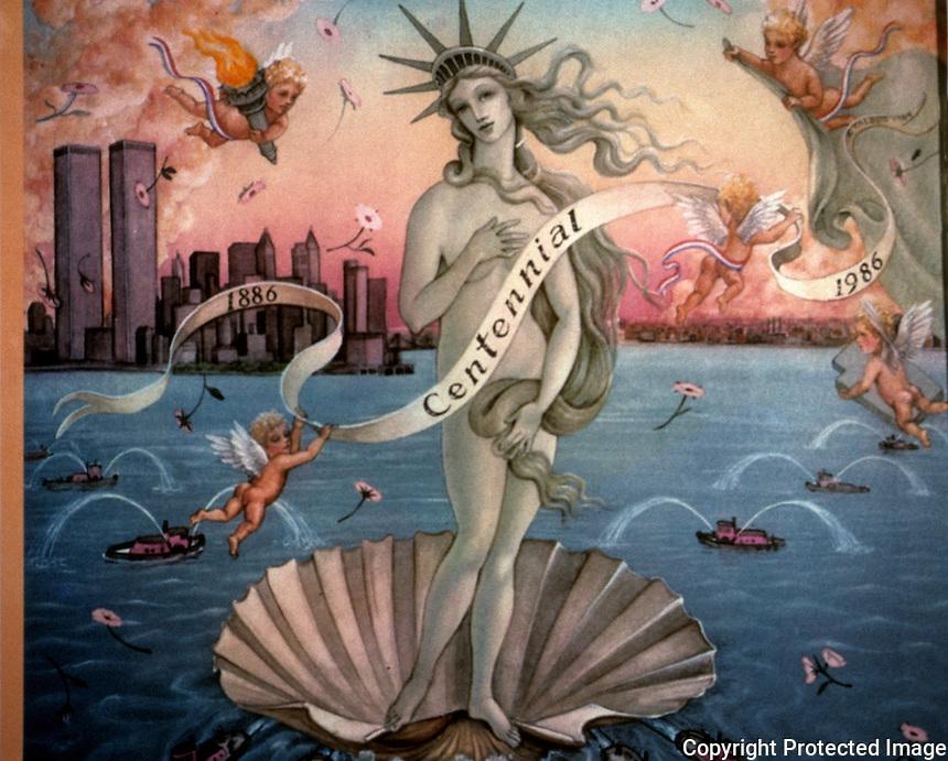 "Liberty:  Boticelli's Venus.  ""1986 Statue of Liberty Centennial Calendar""--Hudson Talbott."