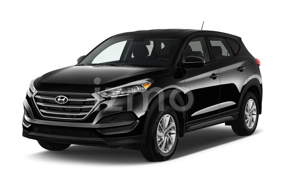 2016 Hyundai Tucson SE 5 Door Suv Angular Front stock photos of front three quarter view